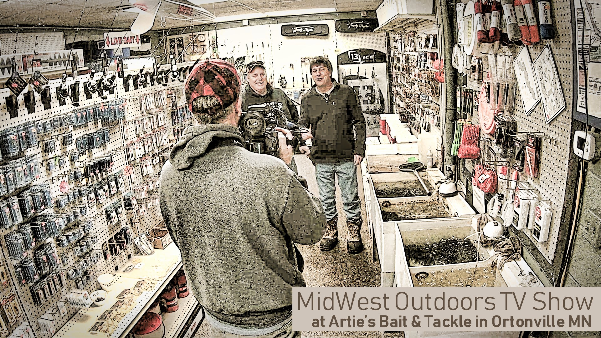 Two Camera Crews on Big Stone Lake Today